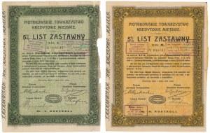 Piotrków, TKM, Listy zastawne 1925 - zestaw (2szt)