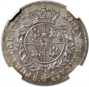 Poniatowski, Dwuzłotówka 1771 I.S. - NGC AU