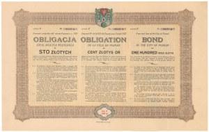 Poż. miasta Poznania 1927 r. Obligacja na 100 zł