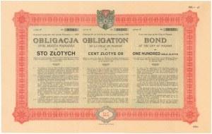Poż. miasta Poznania 1929 r. Obligacja na 100 zł