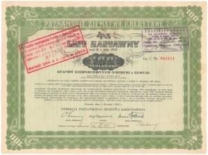 Poznań, PZK, List zastawny 1933 - 100 dolarów