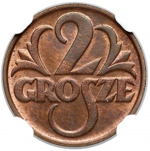 2 grosze 1934 - NGC MS63 RB