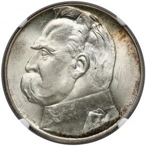 Piłsudski 10 złotych 1939 - NGC MS63
