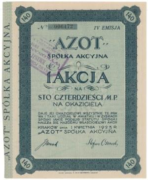 AZOT Spółka Akcyjna, Em.4, 140 mkp 1923