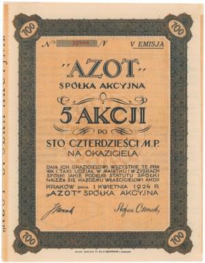AZOT Spółka Akcyjna, Em.5, 5x 140 mkp 1924