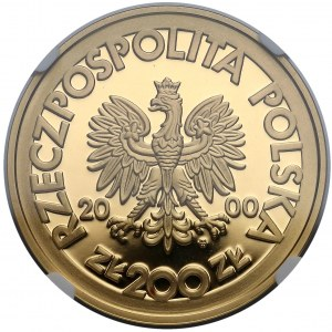 200 złotych 2000 Solidarność - NGC PF69 UC