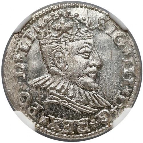 Zygmunt III Waza, Trojak Ryga 1590 - PIĘKNY - NGC MS65