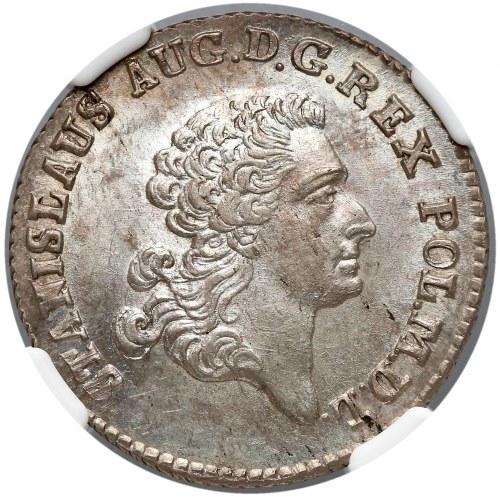 Poniatowski, Złotówka 1767 FS - piękny - NGC MS64