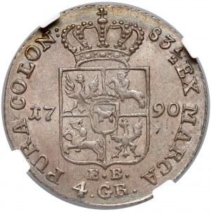 Poniatowski, Złotówka 1790 E.B. - NGC MS62