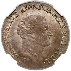 Poniatowski, Złotówka 1792 M.V. - NGC AU58