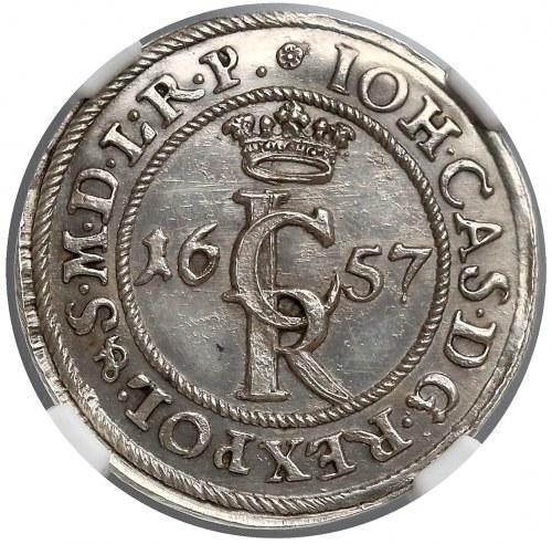 Jan II Kazimierz, Szeląg Gdańsk 1657 odbitka z oryginalnych stempli (R5)