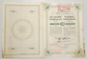 Kraków, Bank galicyjski, List zastawny 1.000 koron 1913