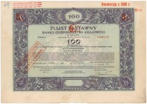 Bank Gospodarstwa Krajowego, List zastawny Em.2 100 zł 1928