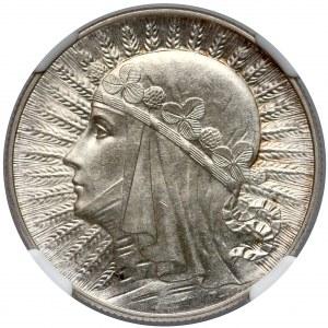 Głowa Kobiety 5 złotych 1933 - NGC MS64