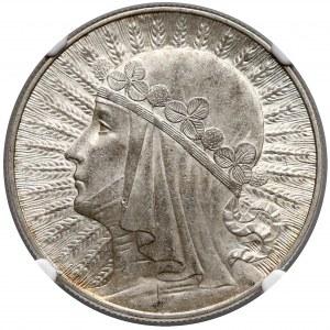 Głowa Kobiety 10 złotych 1932 Warszawa - NGC AU