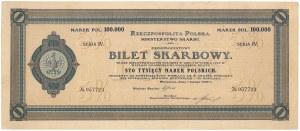 Bilet Skarbowy, Serja IV - 100.000 mkp 1923