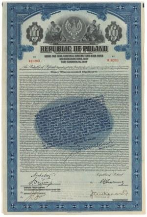 7% Pożyczka Stabilizacyjna 1927, Obligacja $1.000