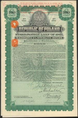 7% Pożyczka Stabilizacyjna 1927, Obligacja 1.000 funtów