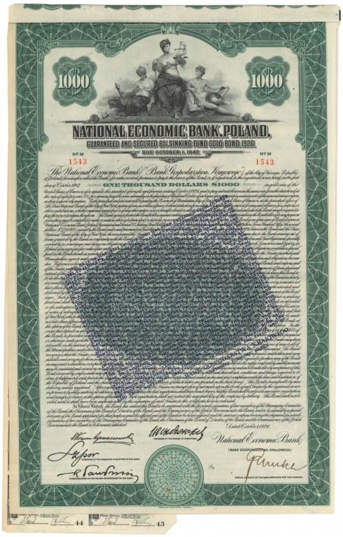 BGK Bank Gospodarstwa Krajowego, Obligacja na $1.000 1926