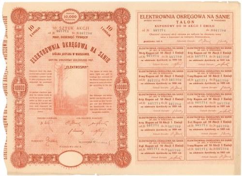 Elektrownia Okręgowa na Sanie, Em.1, 10x 1.000 mkp 1923
