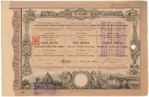 Towarzystwo kolei Lwów-Czerniowice-Jassy, 200 zł reńskich 1866