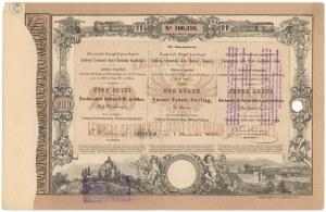 Towarzystwo kolei Lwów-Czerniowice-Jassy, Em.2, 200 zł reńskich 1868