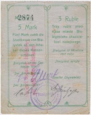 Białystok, 5 Mk = 3 rub 1915