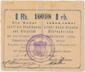 Białystok, 1 rubel 1915
