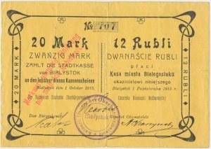Białystok, 20 Mk = 12 rub 1915