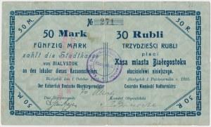 Białystok, 50 Mk = 30 rub 1915