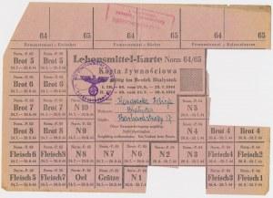 Ex. Siedlecki, Białystok, Karta żywnościowa 1944 r.
