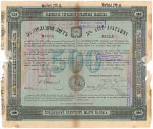 Radom, TKM, List zastawny 500 rubli 1910