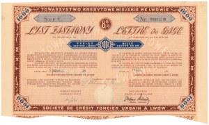 Lwów, TKM, List zastawny 1.000 zł 1931
