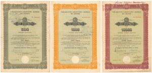 Lwów, TKZ, Listy zastawne 1934-38 - zestaw (3szt)