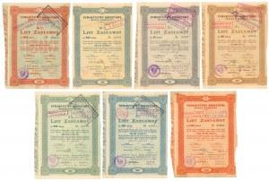 Warszawa, TKM, Listy zastawne 5.12.1924 - zestaw (7szt)