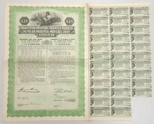 Tow. Kredytowe Przemysłu Polskiego, List zastawny, 20 funtów 1928