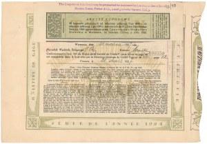 Warszawa, TKZ, List zastawny 500 dolarów 1927