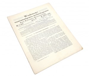 Wiadomości Numizmatyczno-Archeologiczne, Rok 1906 nr 4