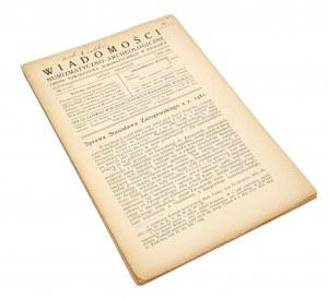 Wiadomości Numizmatyczno-Archeologiczne, Rok 1920 nr 7-12