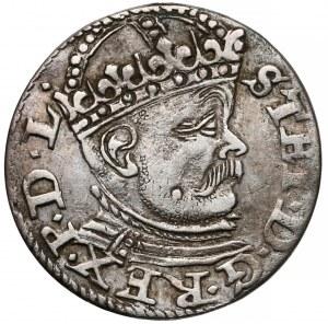 Stefan Batory, Trojak Ryga 1585 - duża głowa