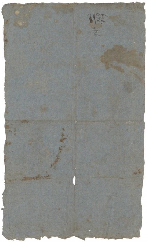 Księstwo Warszawskie, T-wo Ogniowe, Polisa 250 talarów 1810