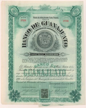 Meksyk, Banco de Guanajuato, Guanajuato, 1906