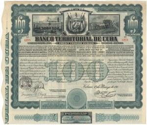 Kuba, Banco Territorial de Cuba, $100 1911