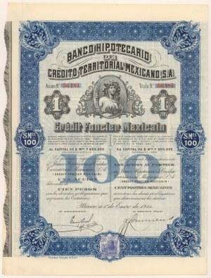 Meksyk, Banco Hipotecario de Credito Territorial Mexicano, 100 pesos 1914