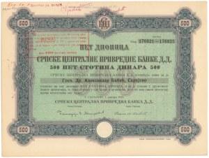Bośnia i Hercegowina, Bank Sarajewo, 500 dinar 1922