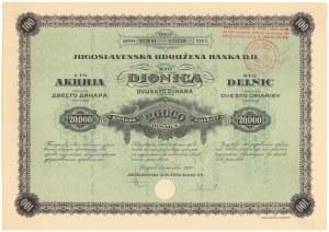 Jugosławia, Jugoslavenska Udružena Banka DD, Zagrzeb, 20.000 dinar 1928