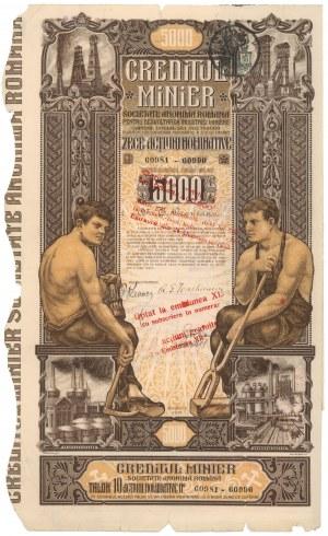 Rumunia, Creditjl Minier, Bukareszt, 5.000 lei 1923