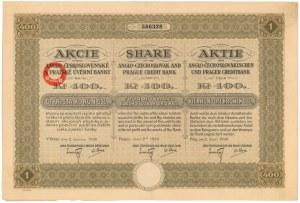 Czechosłowacja, Anglo- Československé a Pražské Úvěrní Banka, Praga, 400 korun 1930
