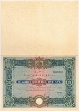 Czechosłowacja, Živnostenská Banka, Praga 200 korun 1933