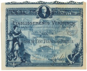 Francja, Establissments Verminck, Marsylia 100 francs